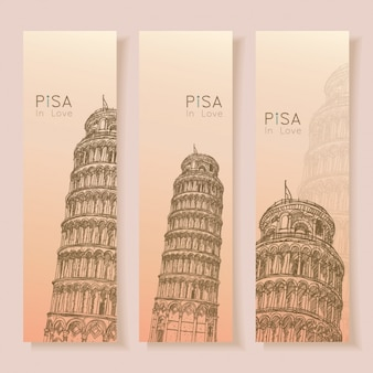 Pisa banners collection
