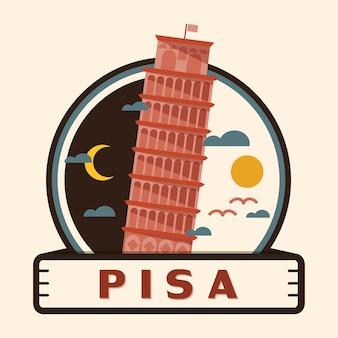 Pisa city badge, italy
