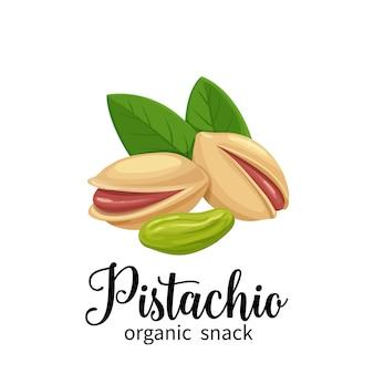 Pistachio in cartoon style