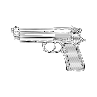 A pistol illustration vector