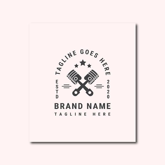 Поршень логотип винтаж
