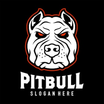 Pitbul head logo design inspiration