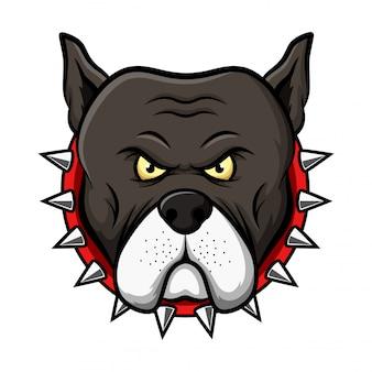 Pitbull head mascot illustration
