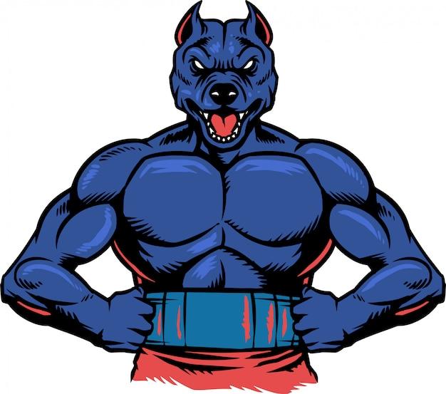 Pitbull muscle