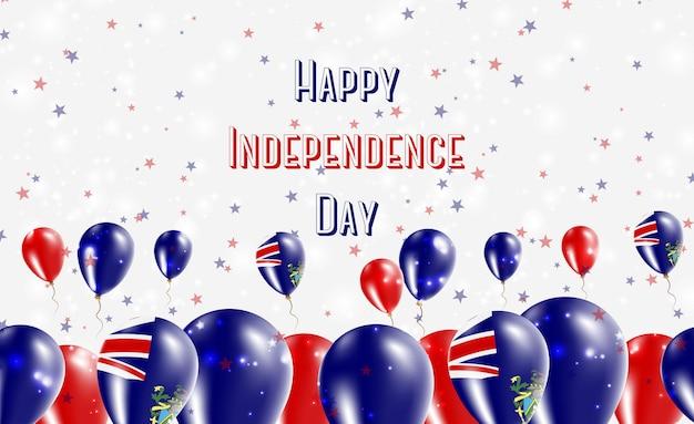 Патриотический дизайн, посвященный дню независимости питкэрна. воздушные шары в национальных цветах жителей островов питкэрн. поздравительная открытка вектора дня независимости сша.