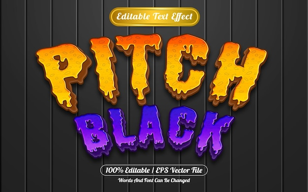 Pitch black editable text effect template style