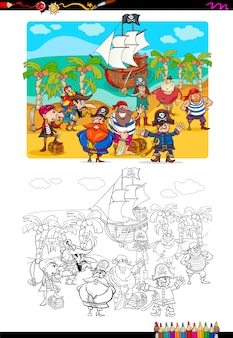 해적 그룹 색칠하기