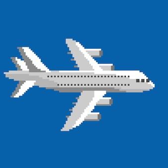 Pixel air plane in vector