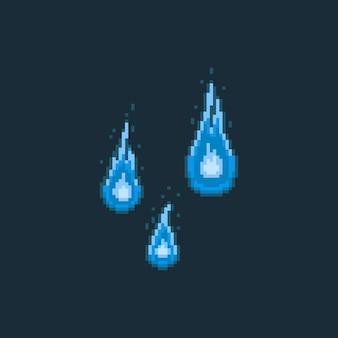 Pixel art cartoon 8bit fire spirit cartoon set.