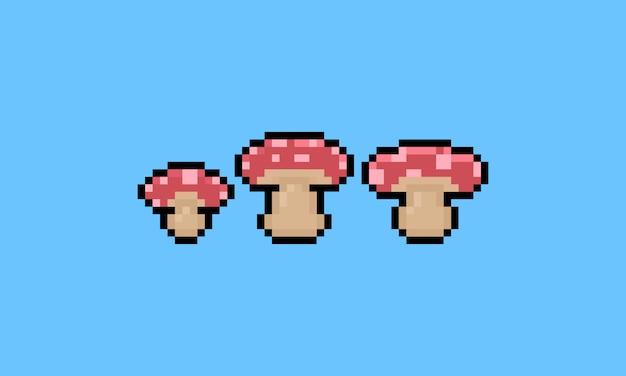 Пиксель арт мультфильм грибов