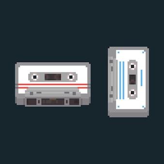 ピクセルアートカセットテープ