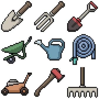 Pixel art of gardening tool
