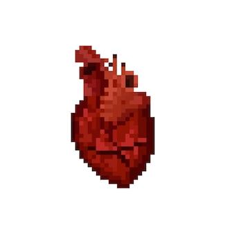 Пиксель арт значок сердца