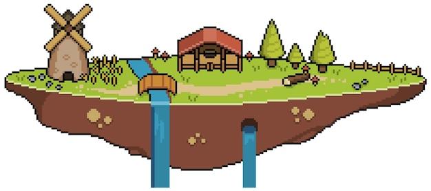 Пиксель арт остров в небе бит игра