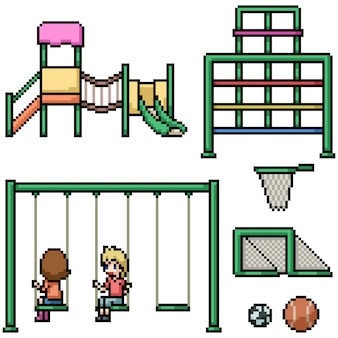 ピクセルアートの子供の遊び場
