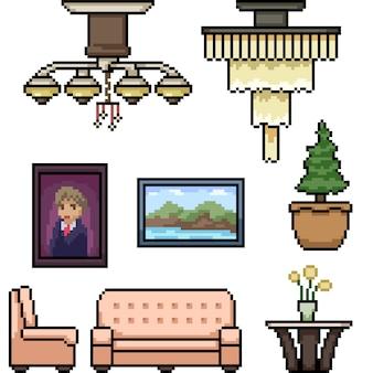 Пиксель арт гостиная