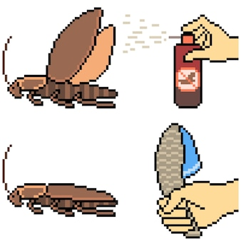 역겨운 바퀴벌레를 죽이는 픽셀 아트
