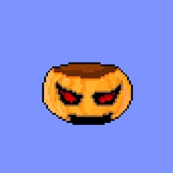 Пиксельное искусство тыквы с конфетой