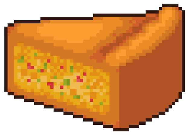 Пиксель-арт кусочек еды для битовой игры