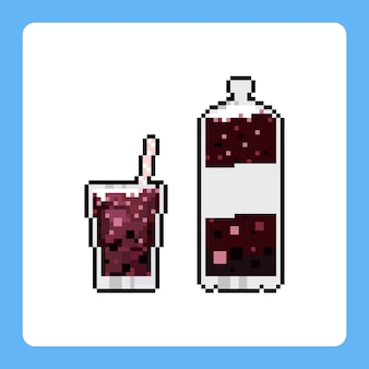 Pixel art set of cola icon