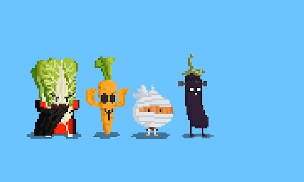 Пиксель арт персонаж овощного призрака