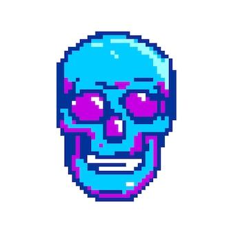 Пиксель арт череп будущая игра ужас элемент