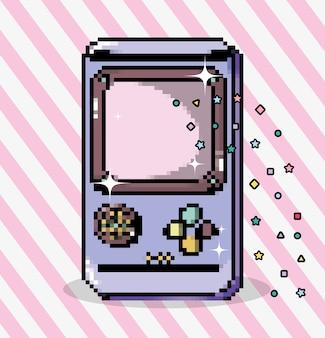 Pixel art tetris videogame cartoons