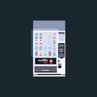 Торговый автомат с сенсорным экраном pixel art.