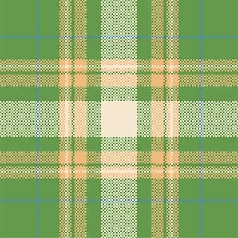 ピクセル背景デザイン。モダンなシームレスパターンの格子縞。正方形のテクスチャ生地。タータンスコットランドテキスタイル