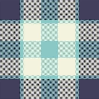 ピクセルの背景デザイン。モダンなシームレスパターンのチェック柄。スクエアテクスチャ生地。タータンチェックのスコットランドのテキスタイル。美容色マドラス飾り。