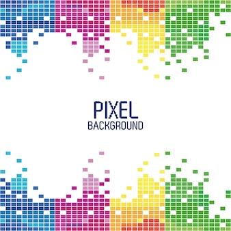 Пиксельный фон в многоцветных вертикальных полосах