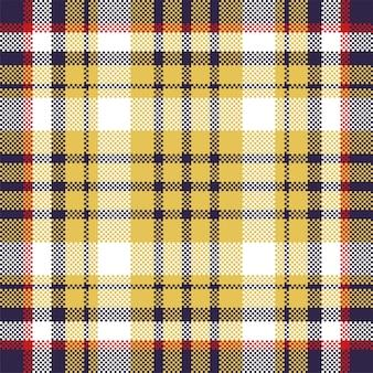 ピクセルの背景。モダンなシームレスパターンの格子縞。正方形のテクスチャ生地。タータンスコットランドの織物。美容色マドラス飾り。