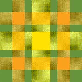 Пиксельный фон. современный плед бесшовные модели. ткань квадратной текстуры. тартан шотландский текстиль. красота цветного орнамента медресе.