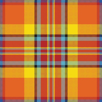 Pixel background  . modern seamless pattern plaid. square texture fabric. tartan scottish textile. beauty color madras ornament.