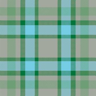 ピクセル背景。モダンなシームレスパターンの格子縞。正方形のテクスチャ生地。タータンスコットランドの織物。美容色マドラス飾り。
