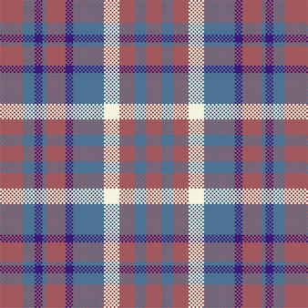 Pixel background  . modern seamless pattern plaid. square texture fabric. tartan scottish textile. beauty color madras ornament. Premium Vector