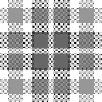 ピクセル背景。モダンなシームレスパターンの格子縞。 。タータンスコットランドの織物。美容色マドラス飾り。