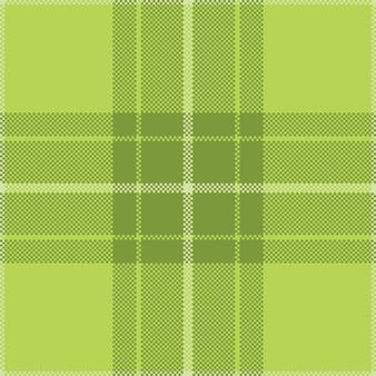 ピクセル背景ベクトルデザイン。モダンなシームレスパターンの格子縞。正方形のテクスチャ生地。タータンスコットランドの織物。美容色マドラス飾り。