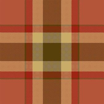 픽셀 배경 벡터 디자인입니다. 현대 원활한 패턴 격자 무늬입니다. 스퀘어 텍스처 패브릭. 타탄 스코틀랜드 직물. 뷰티 컬러 마드라스 장식.