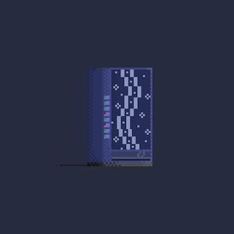 Пиксельный синий торговый автомат.