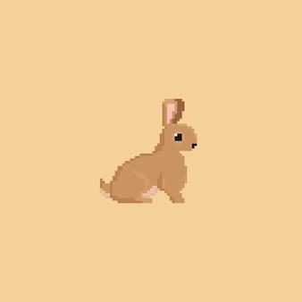 Pixel brown rabbit