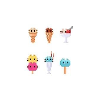 Pixel cat ice creams