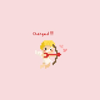 Pixel cupid with arrow