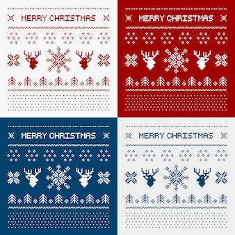 Пиксельные олени и рождественские деревья