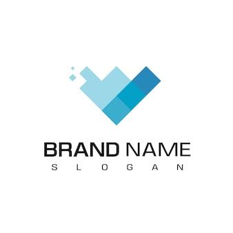 Pixel diamond logo design vector