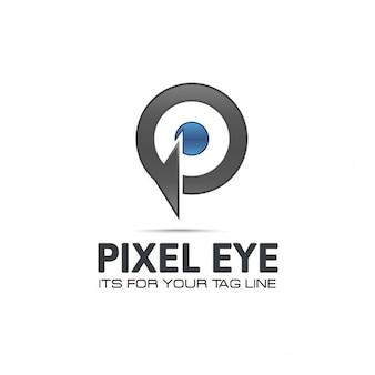 Pixel eye logo