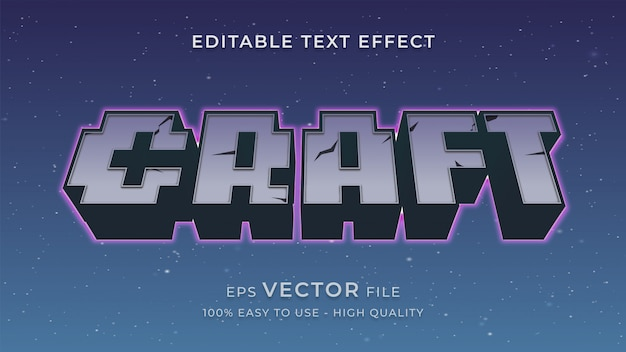 Pixel game editable text effect concept