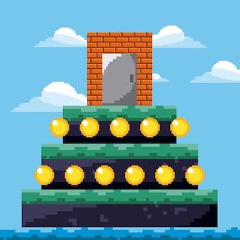 Уровень игры в пикселях