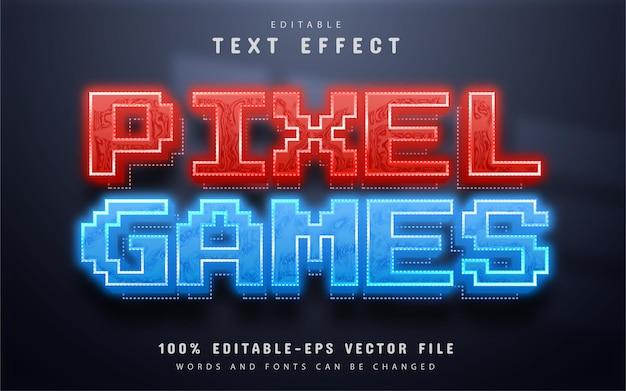 Пиксельный игровой текстовый эффект Premium векторы