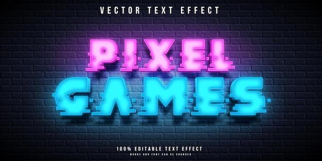 ピクセルゲームの編集可能なテキスト効果